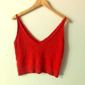 Zara Orange Knit Crop